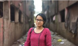 Woman in Indian slums